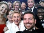 PHOTO: Ellen DeGeneres takes a selfie with Jared Leto, Jennifer Lawrence, Channing Tatum, Meryl Streep, Julia Roberts, Kevin Spacey, Brad Pitt, Lupita Nyongo, Angelina Jolie, Peter Nyongo and Bradley Cooper at the Oscars