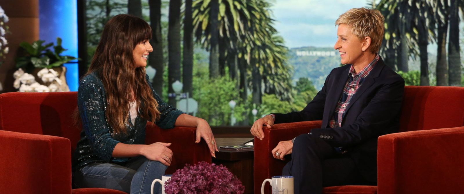 "PHOTO: ""Glee"" actress Lea Michele makes an appearance on the ""The Ellen DeGeneres Show,"" March 19, 2014."