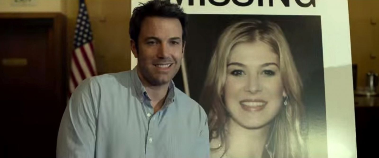 "PHOTO: Ben Affleck as ""Nick Dunne"" in the ""Gone Girl"" trailer."
