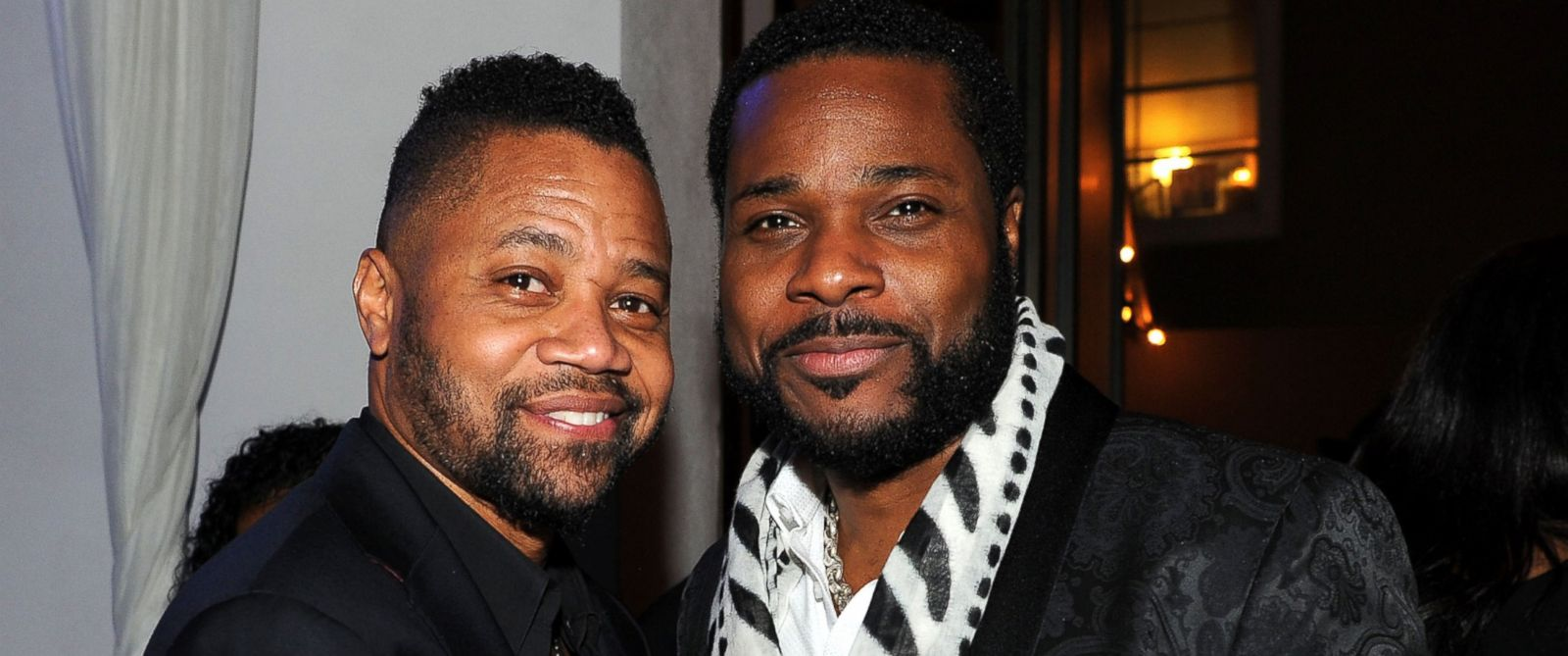 """PHOTO: Cuba Gooding Jr. and Malcolm-Jamal Warner at the party following the premiere of FXs """"The People v. O.J. Simpson: American Crime Story,"""" Jan. 27, 2016 in Los Angeles."""