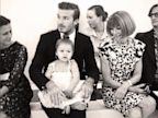 PHOTO: Anna Wintour smiles at Baby Harper during Victoria Beckhams fashion show