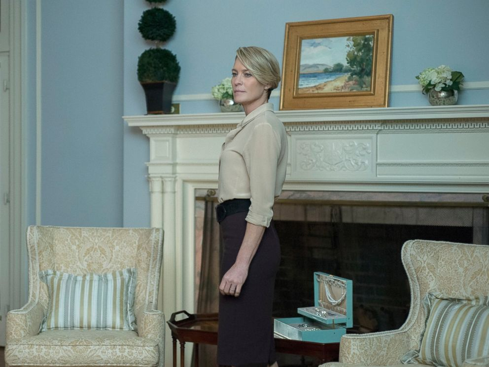 PHOTO: Robin Wright in a scene from season 4 of House of Cards.