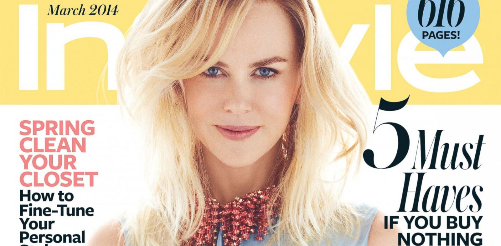 PHOTO: The March 2014 cover of InStyle, featuring Nicole Kidman.