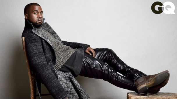 PHOTO: Kanye West appears on the cover for the August GQ.