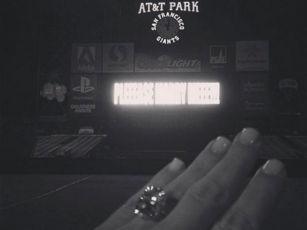 PHOTO: Kim Kardashian posted this photo of her engagement ring, Oct. 22, 2103.
