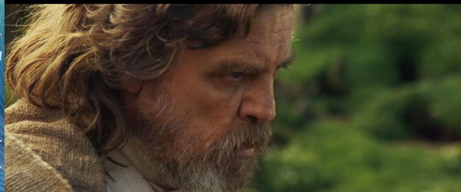 """PHOTO:Mark Hamill appears as Luke Skywalker in a promo for """"Star Wars: Episode VIII."""""""