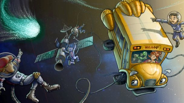 PHOTO: Early concept art for The Magic School Bus 360°, an original new CG animated TV series from Scholastic Media, launching on Netflix in 2016.