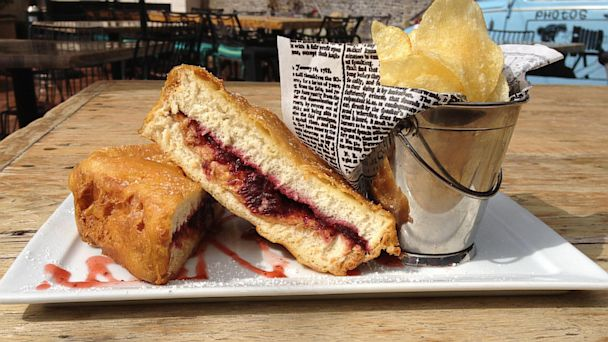 The Malibu Inns fried peanut butter and jelly sandwich.