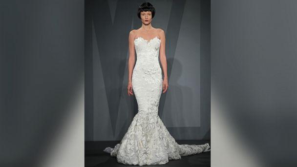 PHOTO: A model wears a wedding dress designed by Mark Zunino.