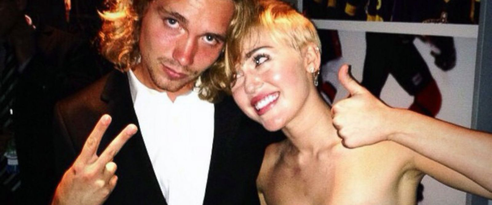 "PHOTO: Miley Cyrus posted this photo to Instagram, Aug. 24, 2014, with the caption, ""#myfriendsplace #VMAs2014 #mtv."""