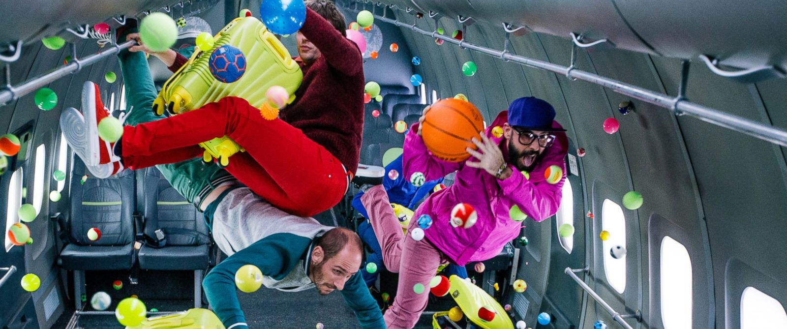 """PHOTO:Ok Go filmed the zero-gravity music video for their new single, """"Upside Down, Inside Out,"""" at Russias Yuri Gagarin Cosmonaut Training Center."""
