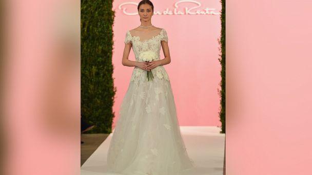 PHOTO: A model walks the runway at the Oscar De La Renta Spring 2015 Bridal collection show