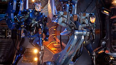 PHOTO: Charlie Hunnam as Raleigh Becket and Rinko Kikuchi as Mako Mori in the sci-fi action Warner Bros. Pictures adventure, Pacific Rim.