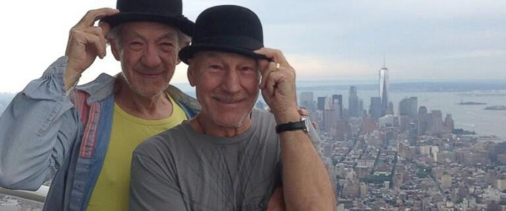 PHOTO: Patrick Stewart posted this photo of himself and Ian McKellen to Twitter, March 22, 2014.