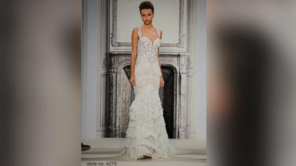 PHOTO: A model wears a Pnina Tornai wedding dress.