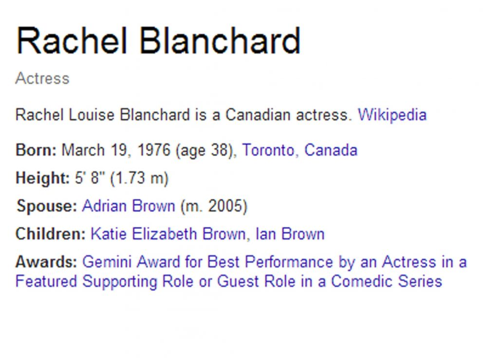 PHOTO: Rachel Blanchards biography.