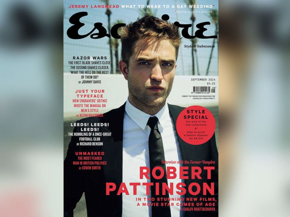 PHOTO: Robert Pattinson appears on the cover of the Sept. 2014 issue of Vogue UK.