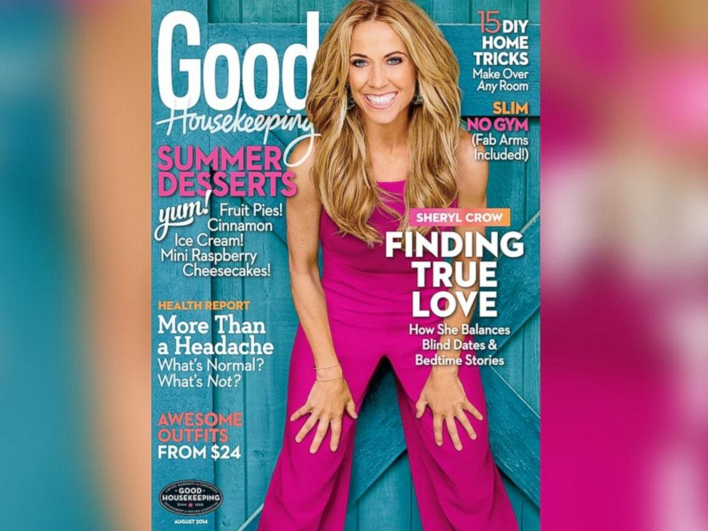 PHOTO: Sheryl Crow, on the cover of the August 2014 issue of Good Housekeeping.