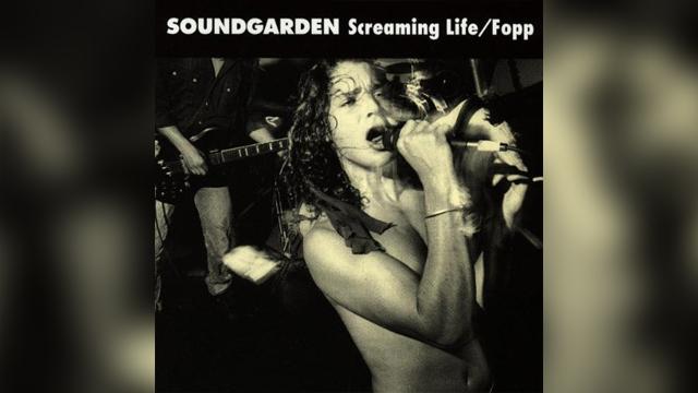 "PHOTO:Soundgarden's ""Screaming Life/Fopp"" album."