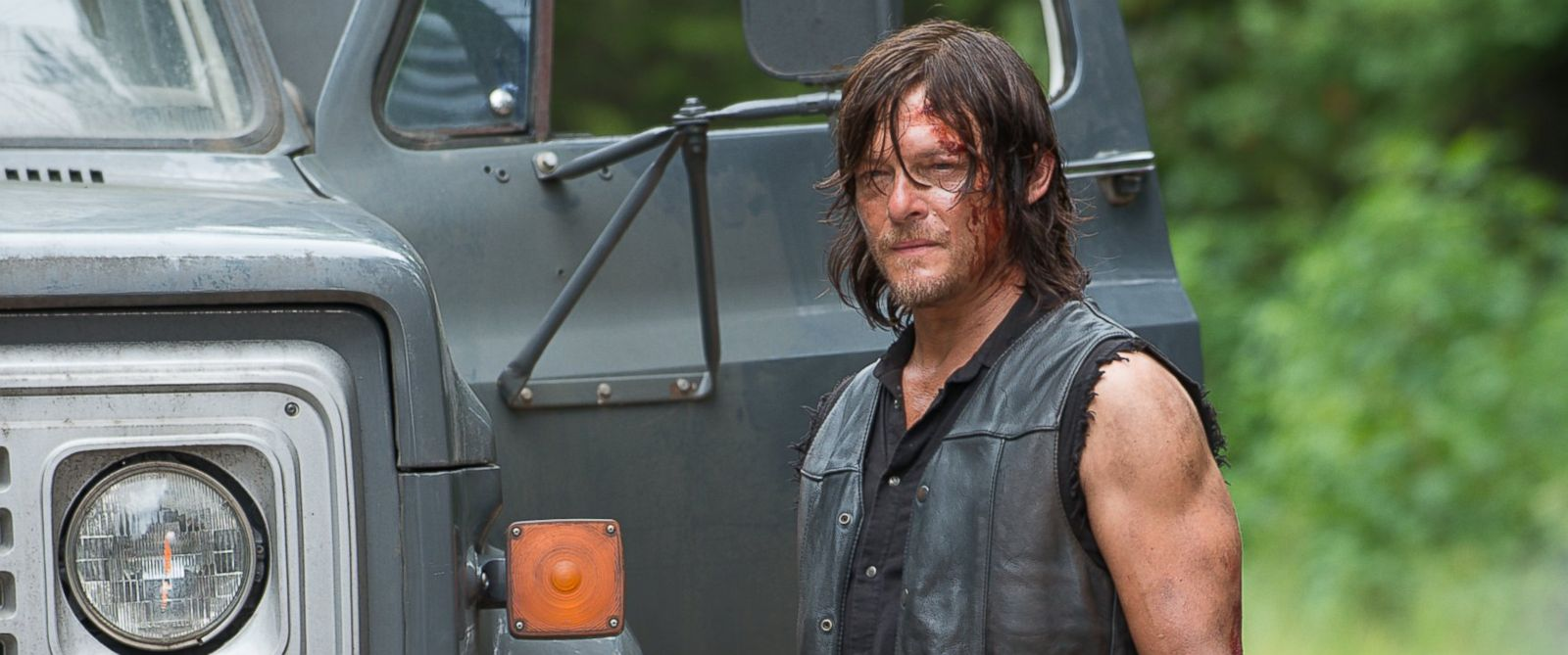 """PHOTO: Norman Reedus who plays Daryl Dixon appears in a scene from """"The Walking Dead."""""""