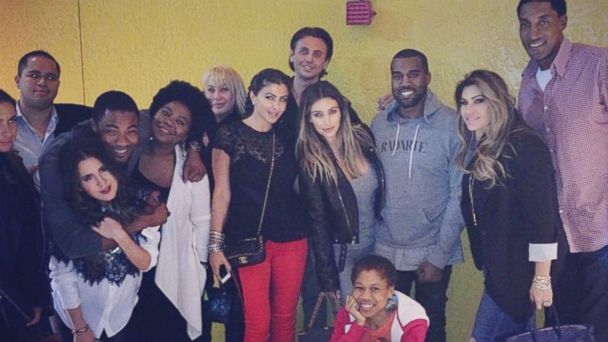 "PHOTO: Kim Kardashian posted this image on Instagram with this caption ""Being away from home for the holidays is hard but Im so thankful for family & friends like this! I love you guys!"", Nov. 29, 2013."