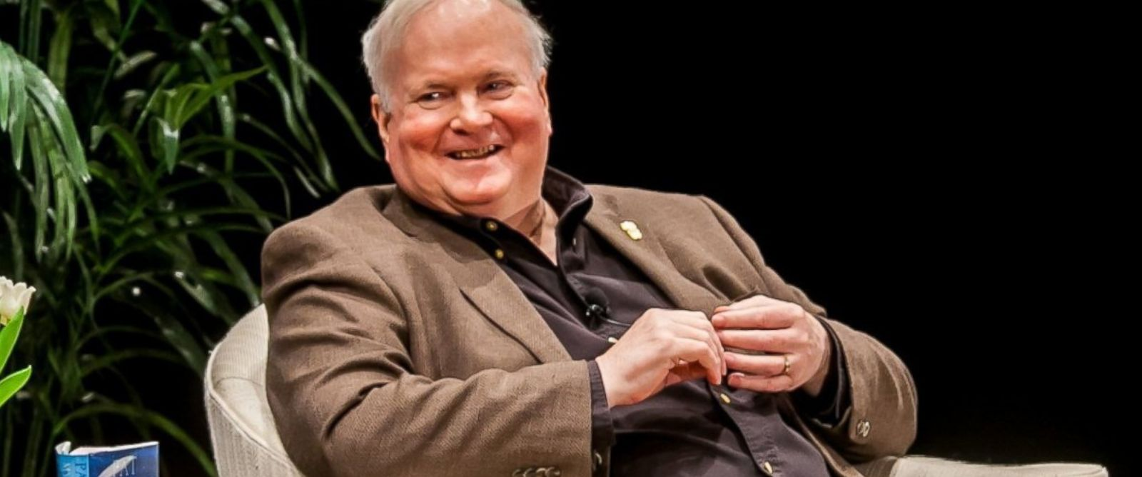 PHOTO:Author Pat Conroy is interviewed by Walter Edgar at the Township Auditorium in Columbia, S.C. Feb. 27, 2014.