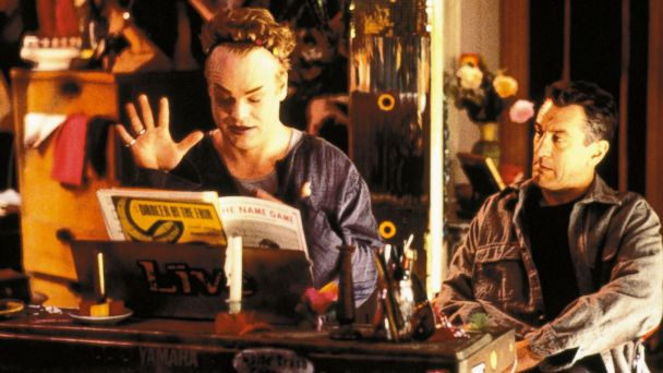 PHOTO: Philip Seymour Hoffman at the piano as Robert De Niro watches in a scene from the film Flawless circa 1999.
