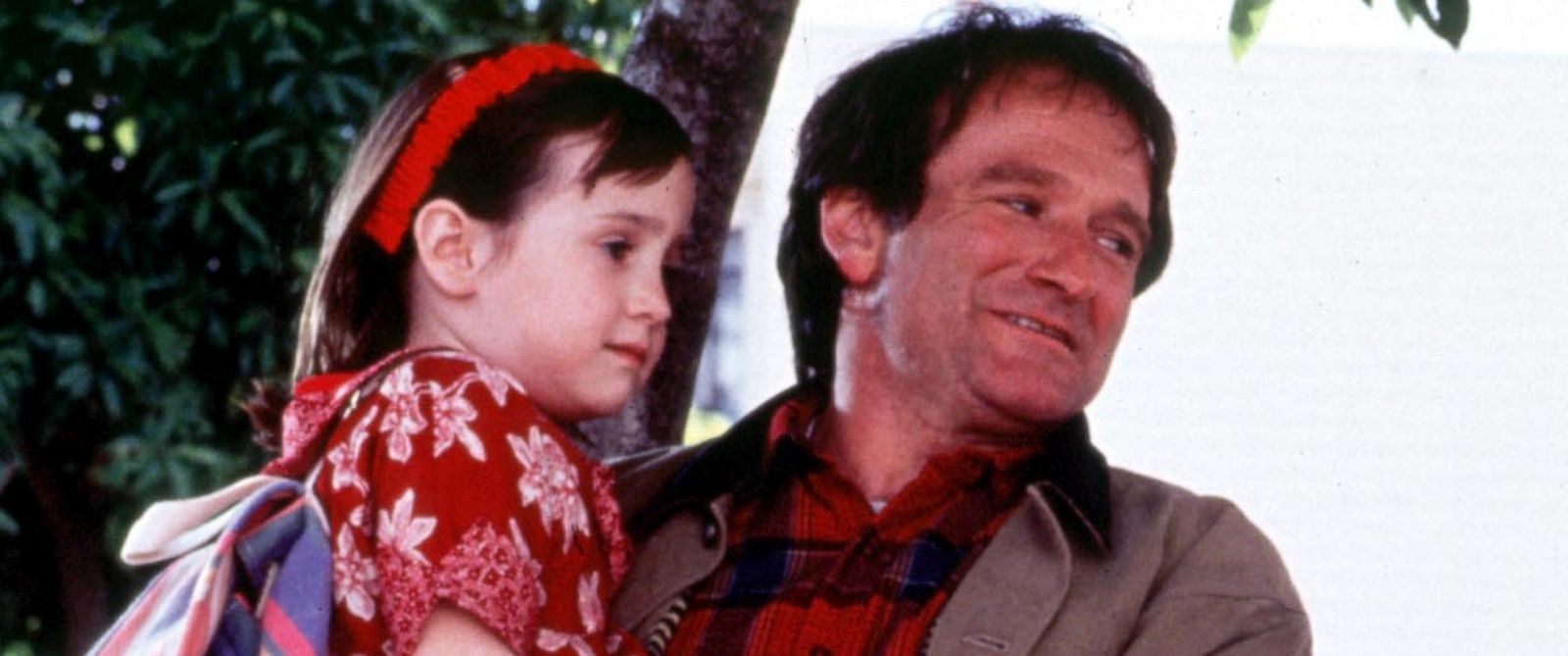 "PHOTO: Mara Wilson, left, and Robin Williams, right, are pictured in a still from ""Mrs. Doubtfire."""