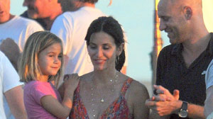 OCTOBER 16: Coco Arquette (L) and Courteney Cox (C) sighting on October 16, 2009 in Los Angeles, California.