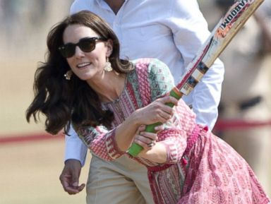 Duchess Kate Plays Cricket in Wedges