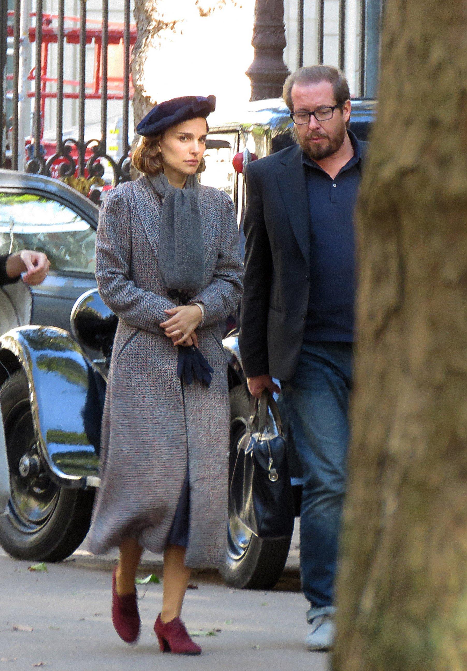 Natalie Portman Gets Into Character in Paris