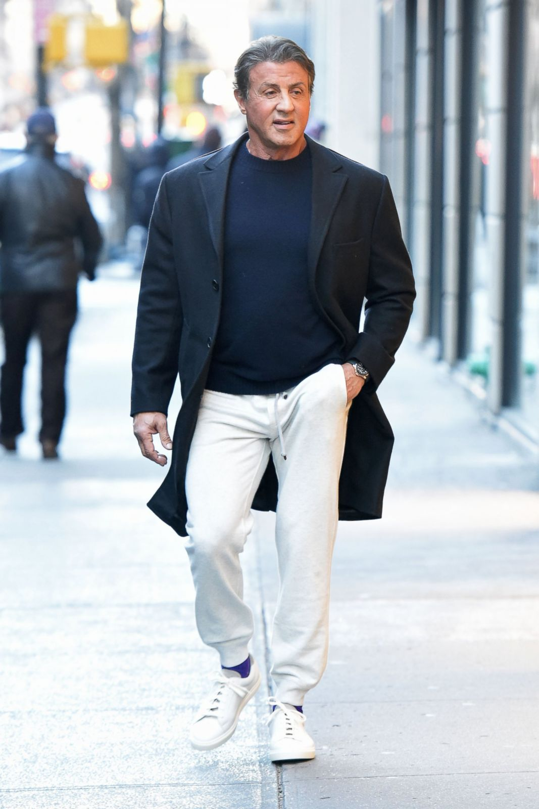 Sylvester Stallone Goes Casual in New York Picture | Fab ...