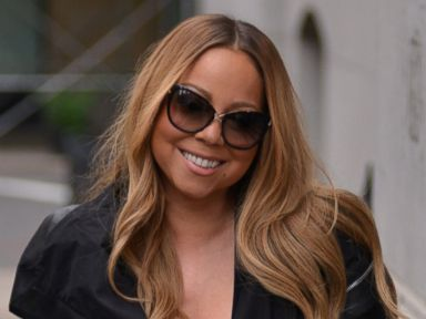 Mariah Carey Steps Out in Leather