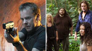 season finales of 24 and Lost