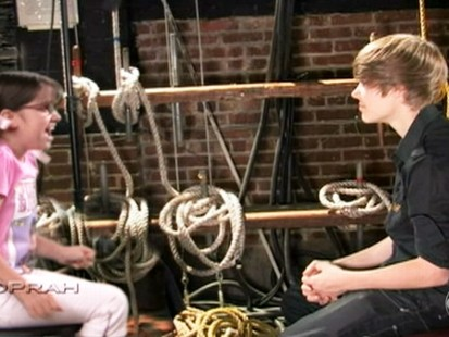 VIDEO: An interview with Justin Bieber turns into a wild experience for one girl.