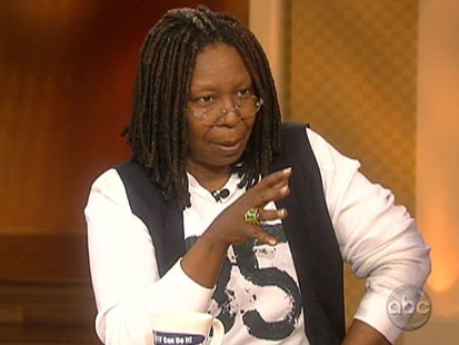 Picture Whoopi Goldberg on The View.