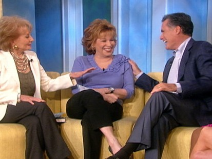 VIDEO: Joy Behar refers to Mitt Romeny as hunky during a chat about politics.