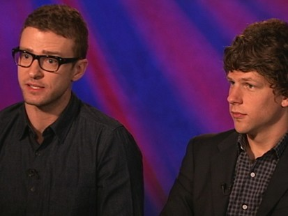 VIDEO: Justin Timberlake and Jesse Eisenberg explain their part in David Finchers film