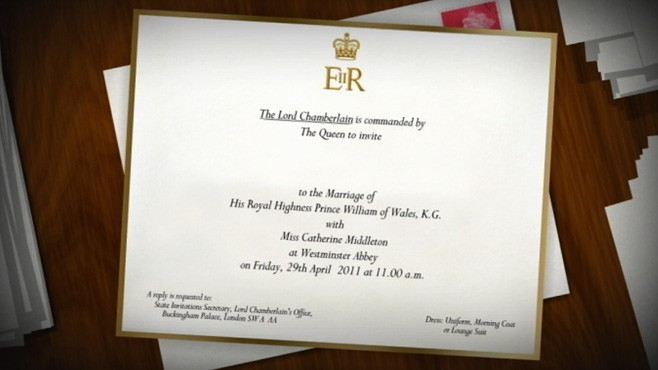 VIDEO: The details and design of Prince William and Kate Middletons invite.