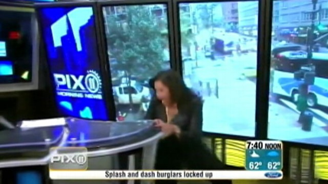 VIDEO: A NYC news anchor took a tumble on live TV while modeling high heels.