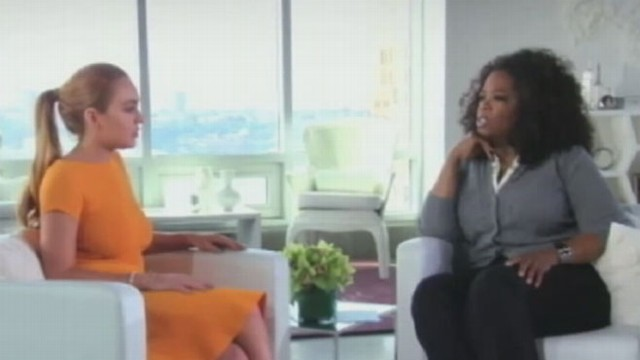 "VIDEO: First interview with Lohan post-rehab shows Oprah asking the star ""are you an addict?"""