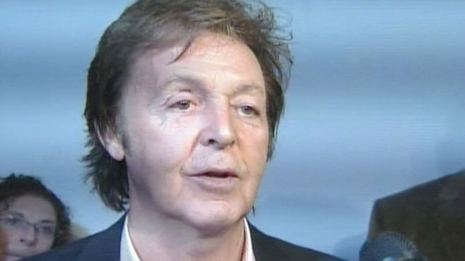 VIDEO: Despite a bad divorce, the Beatle says he is in love and won?t ask for a prenup.
