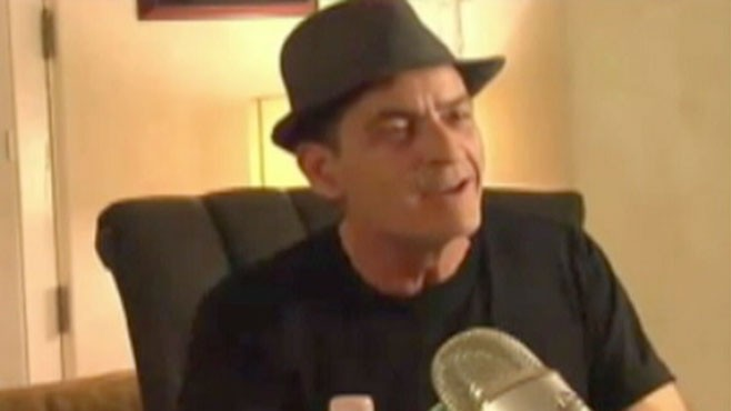 VIDEO: Charlie Sheen is having trouble booking a hotel in New York for his comedy tour.