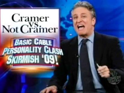 VIDEO: Jon Stewart makes fun of Jim Cramer on The Daily Show.