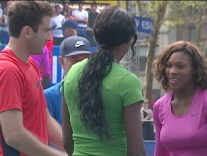 VIDEO: Tennis stars get the Big Apple excited for the U.S. Open.