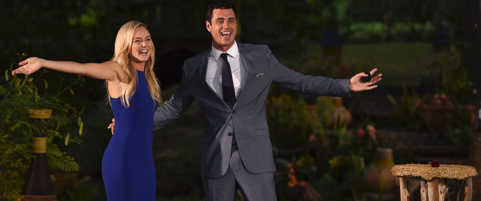 """PHOTO:Lauren and Ben are seen on the season finale episode of """"The Bachelor."""""""