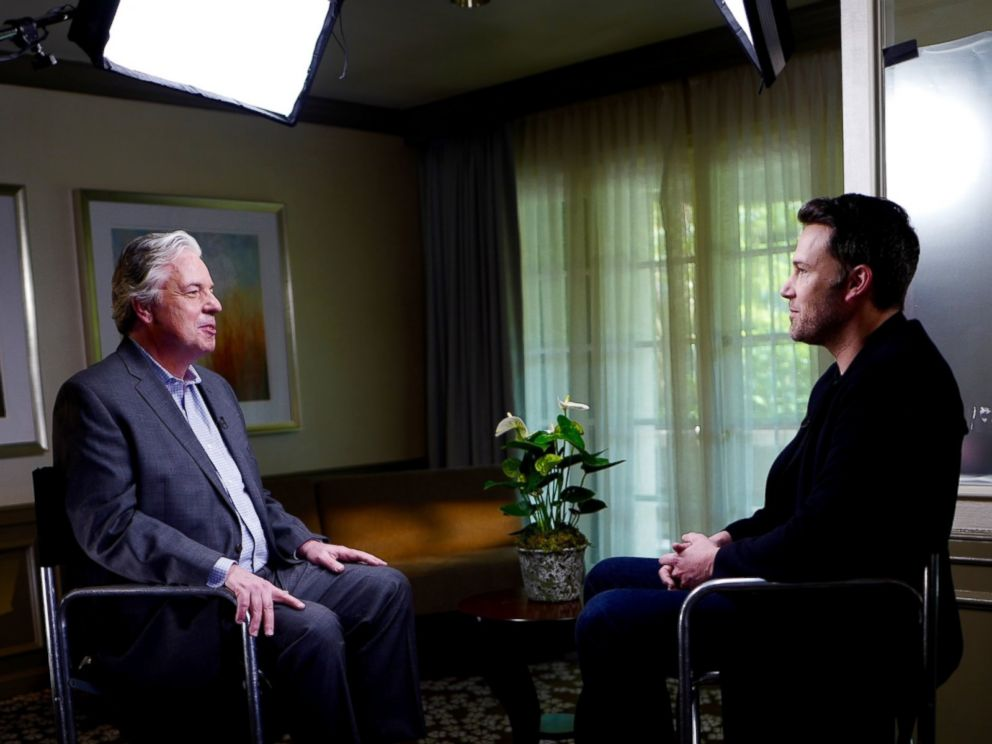 ABCs Chris Connelly interviews Ben Affleck, who plays Batman in the upcoming movie, Batman v Superman: Dawn of Justice.