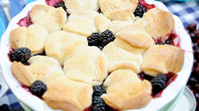 PHOTO: Blackberry cobbler is shown.