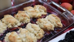 PHOTO: Sara Moulton's blackberry cobbler is shown here.
