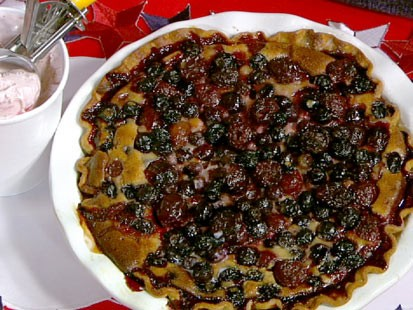 PHOTO: Carla Halls blueberry cherry pie is shown here.